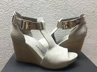 Tsubo Nancie Wet Cement Nubuck Women Wedge Shoe Us 8.5 / Eu 39.5 / Uk 7 -