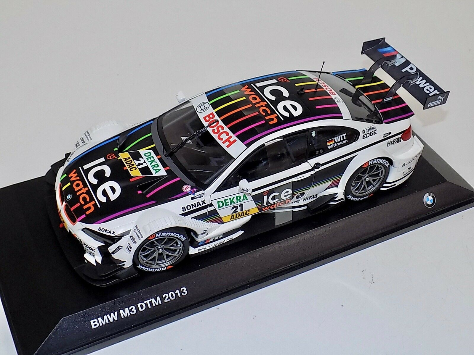1 18 Minichamps BMW M3 DTM 2013 Ice Watch M.Wittmann  Team MTEK Dealer Edit