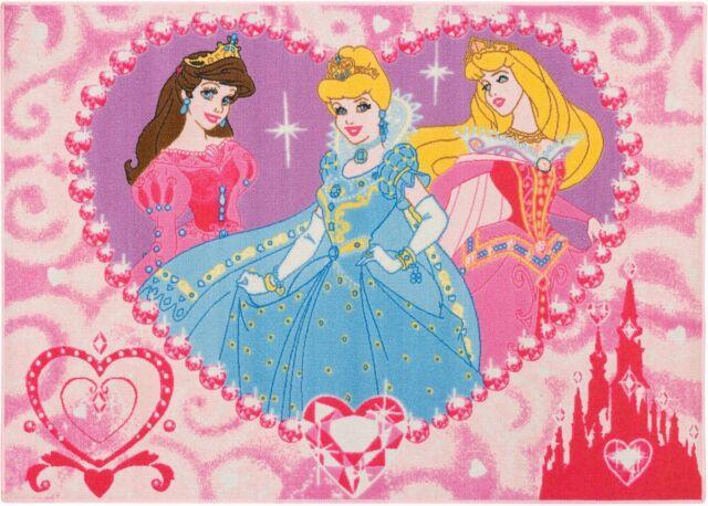 Kinderteppich Princess Jewels Teppich Prinzessin Teppich 95x133 cm in rosa