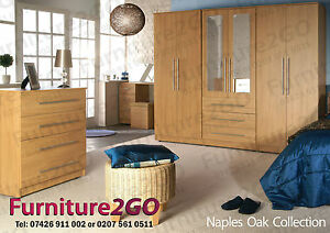 rimini oak assembled bedroom furniture no flat pack home delivery
