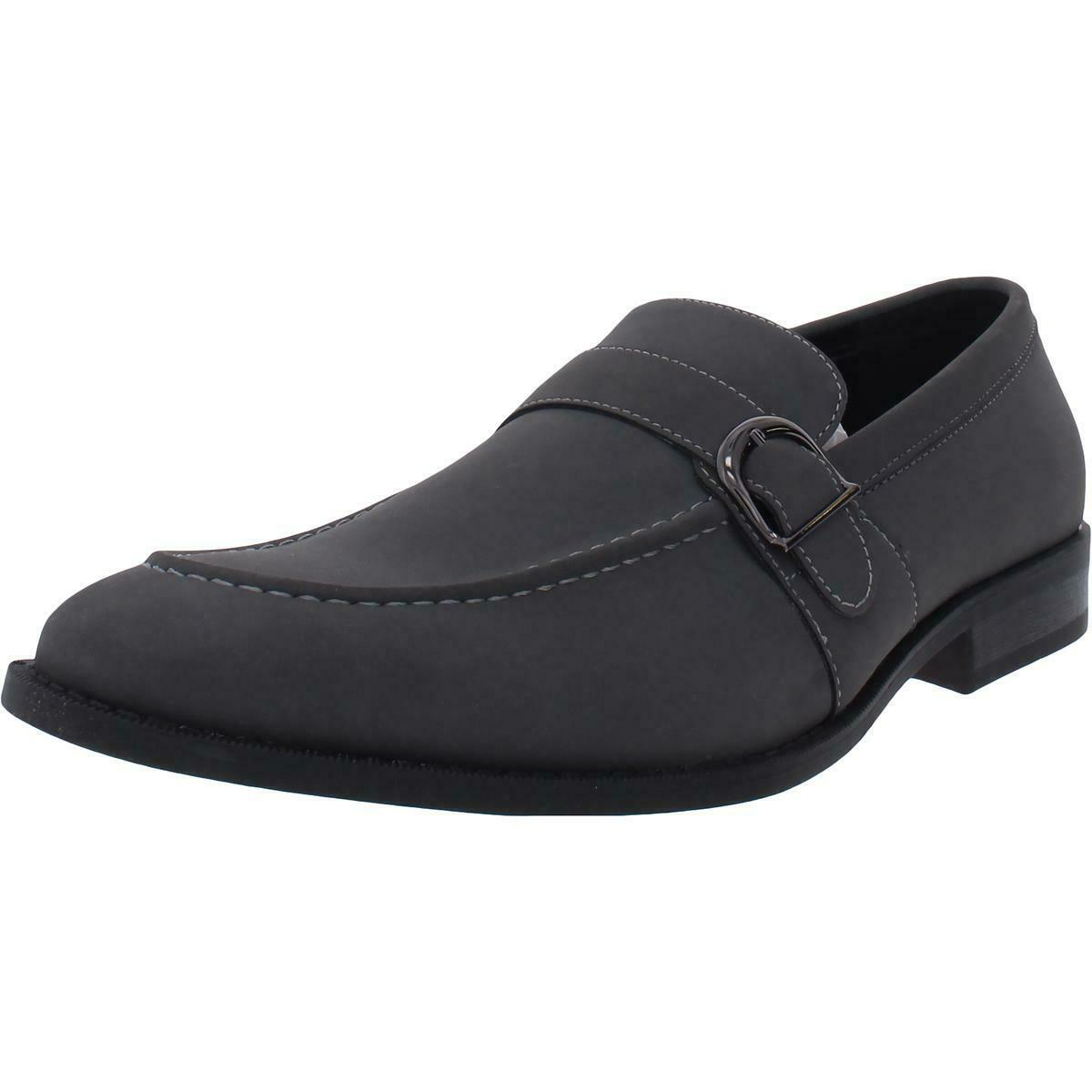 Unlisted Kenneth Cole Mens Half Time Show Gray Loafers 10 Medium (D) BHFO 8926