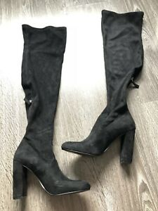 5d4b1f1cb00 Steve Madden Emotions Black Over the Knee Boot Boots Shoes Size 8.5 ...
