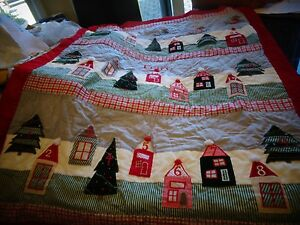 Pottery Barn Kids Countdown Christmas Quilted Santa Advent