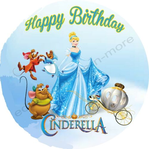 Cinderella Personalized Edible Print Premium Cake Topper Frosting Sheets 5 Sizes