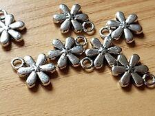 10pcs tibetan silver tone 2sided hollow charms EF1741