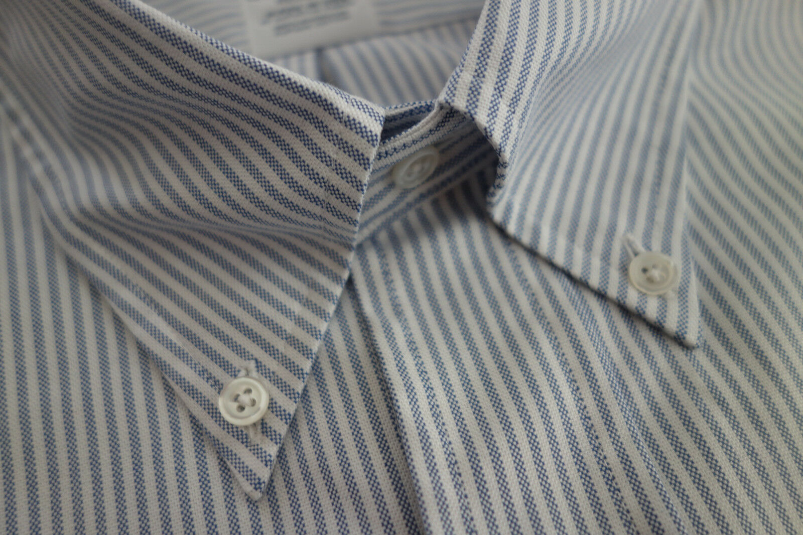 NWOT Brooks Bredhers bluee University Stripe Oxford Button Down Regent MSRP