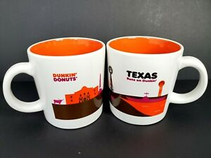 Dunkin' Donuts 2 Ceramic Coffee Mugs Texas Runs On Dunkin' 2012  Restaurantware