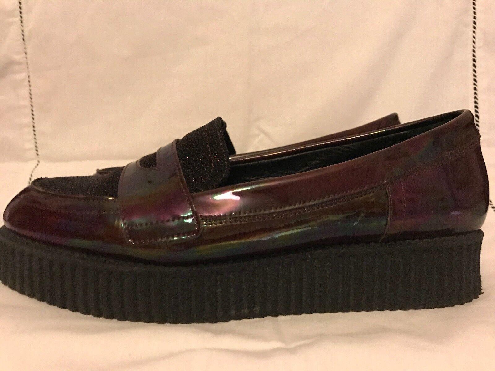 SONIA RYKIEL Schuhe, BURGUNDY/BLACK GLITTER PATTENED PLATFORM Schuhe, RYKIEL Größe 41(EU)/8(UK) 7f789f