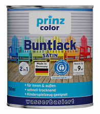 prinzcolor® Premium Buntlack Holzfarbe Türenlack Spielzeugfarbe 222