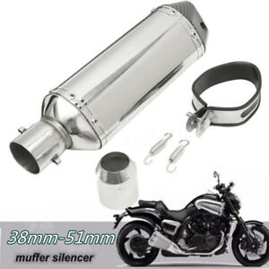 Universal Black 12 Shorty Motorrad Schald/ämpfer Auspuff