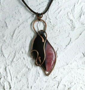 Leopard Jasper Copper Pendant Necklace  4.5 Wire Wrap Pendant  Healing Stones  Handmade  Unisex  Men/'s Jewelry  Statement Jewelry