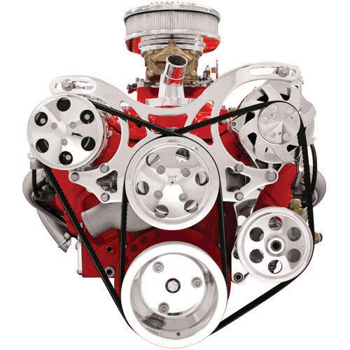 Small Block Chevy V-Trac Pulley System 350 327 400 Billet Specialties  Aluminum
