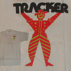 Image Is Loading TRACKER TRUCKS 80s Skateboard Tee Shirt Small White