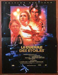 Affiche La Guerre Des Etoiles Star Wars George Lucas Harrison Ford R40x60cm *d