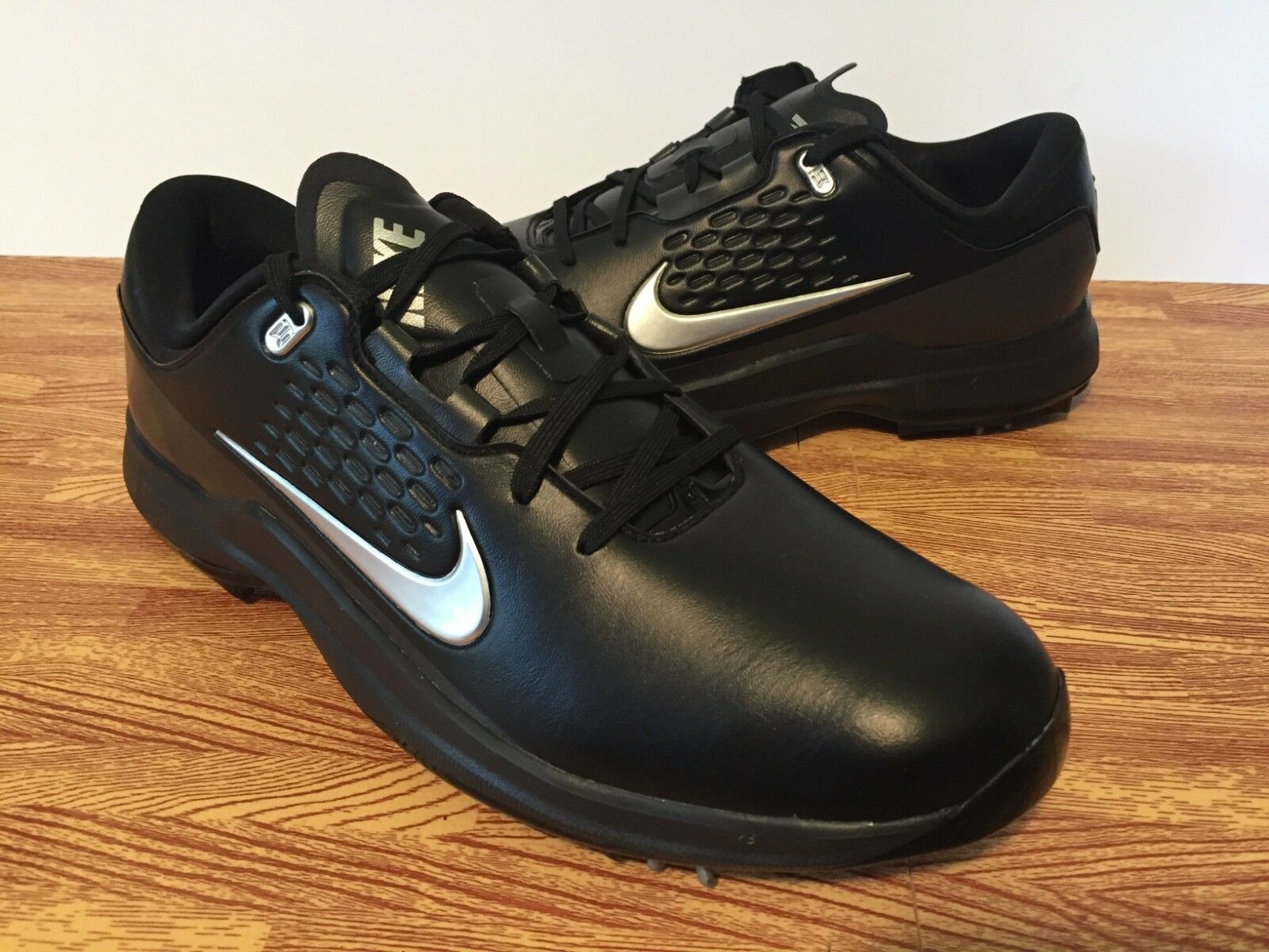 01779d9b998c Nike Golf Air Zoom Tw71 Tiger Woods Shoes Aa1990-002 Black Silver ...