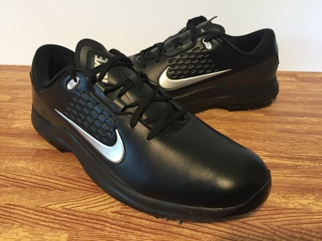 detailed look c32ee c3a12 Nike Golf Air Zoom TW71 Men s Tiger Woods Shoes AA1990-002 Black Silver  SIZE 11