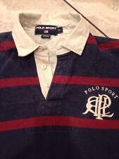 Vintage POLO SPORT RALPH LAUREN Mens M Long Sleeve RUGBY Club Logo A15