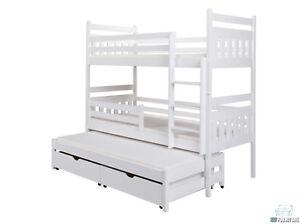etagenbett kinderbett hochbett stockbett mit matratze 90x200 doppelbett wei ebay. Black Bedroom Furniture Sets. Home Design Ideas