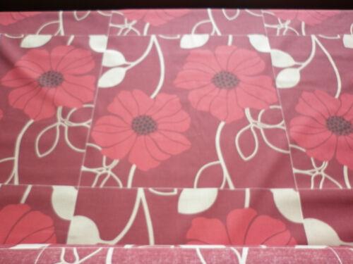 RED POPPY DESIGN CUSHION COVER PANELS NEW 90cm = 6 CUSHION PANELS