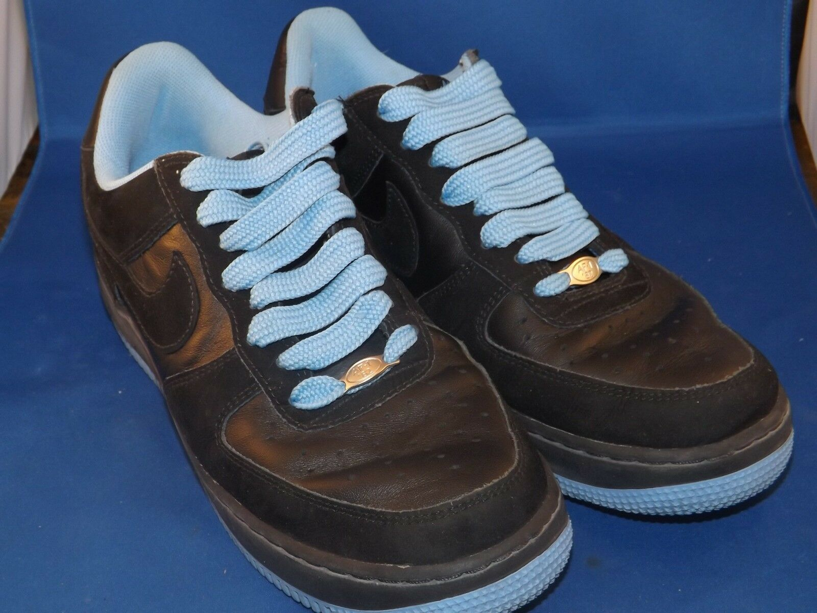 Nike Air Force 1 Blue & Black Shoes 313642-005 Comfortable New shoes for men and women, limited time discount