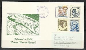 United-States-1981-Apr-13-space-cover-Shuttle-STS-1-Columbia-Airmail-to-Germany