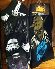 Yoda Darth Vader Stormtrooper faces Socks Mens ankle and full length socks new