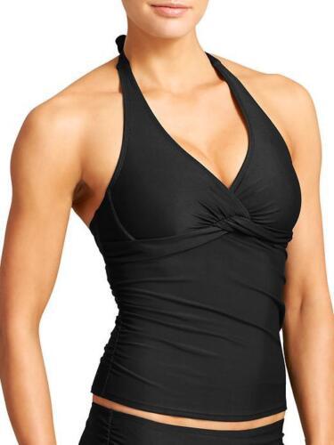 NEW ATHLETA Tara Halter Tankini Top Black 32B//C 36B//C Bathing Swim Suit 34B//C