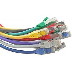 Cat5e-Brassage-FTP-Cuivre-26-Awg-Blinde-Snagless-Cable-RJ45-0-5m-1m-2m-3M-5m-10m