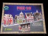 Puzz-3d Wrebbit Victorian Avenue 1008 Piece Puzzle 4 Houses Sealed