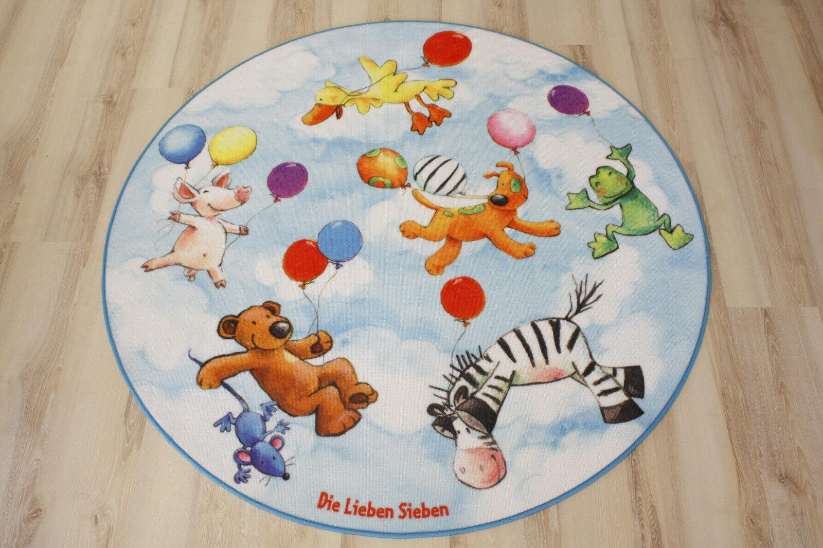 Die Die Die Lieben Sieben Teppich LS-203 100 cm rund NEU | Erste Klasse in seiner Klasse  827b95