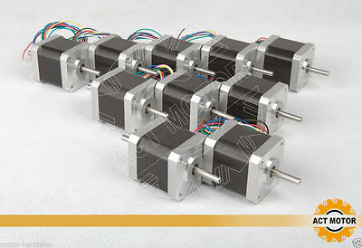 DE 10PCS Nema17 Stepper Motor 17HS5425B24 Dual Shaft 2.5A 4800g.cm 4Lead Robot