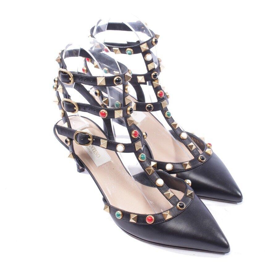 Descuento de liquidación VALENTINO Pumps Gr. D 35 Schwarz Damen Schuhe Rockstud High Heels Shoes