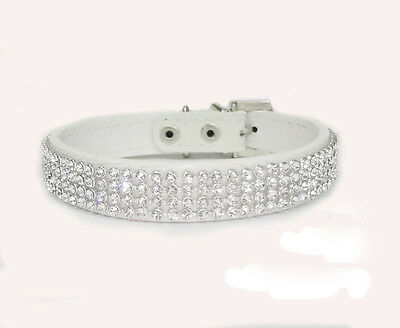 Croc Dog Cat Rhinestone Collars Crystal Diamond Pet Dog Puppy Pu Leather Collars