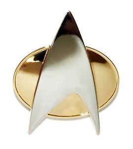 Star-Trek-TNG-Voyager-DS-9-COSplay-Starfleet-Brooch-Badge-Communicator-Pin-Box
