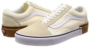 9555a9dea1 Vans Unisex Old Skool GUM BLOCK CLASSIC WHITE Skate Shoes Mens 9 SK8 ...