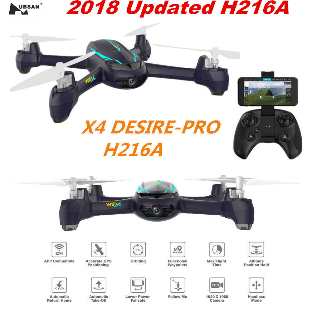 Hubsan h216a x4 5.8g fpv - quadcopter drohne 1080p hd - kopflose mir nach gps - rtf