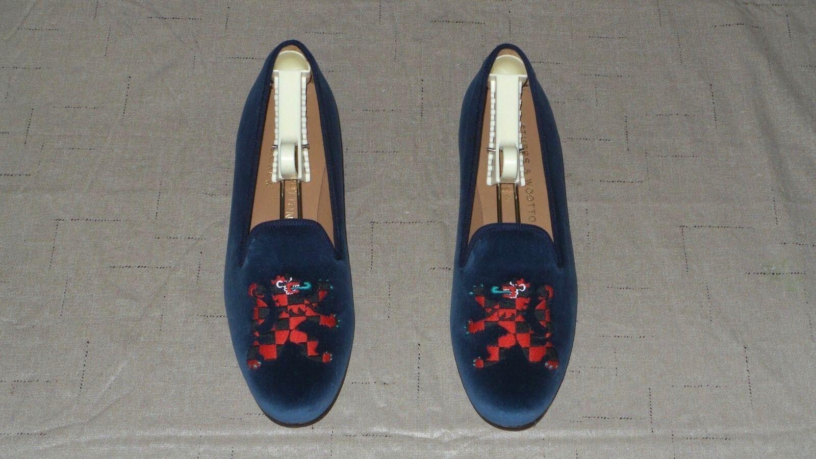 Tan lindo    Mujer  450 Stubbs and wootton Velvet  Dragón  Zapatillas Mocasines Zapatos  venta con alto descuento