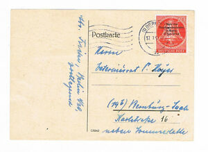 Humble Berlin Fdc Minr. 118 Avec Cachet Du Jour Berlin Et Vraiment Tourné Bernsburg (saale)-afficher Le Titre D'origine