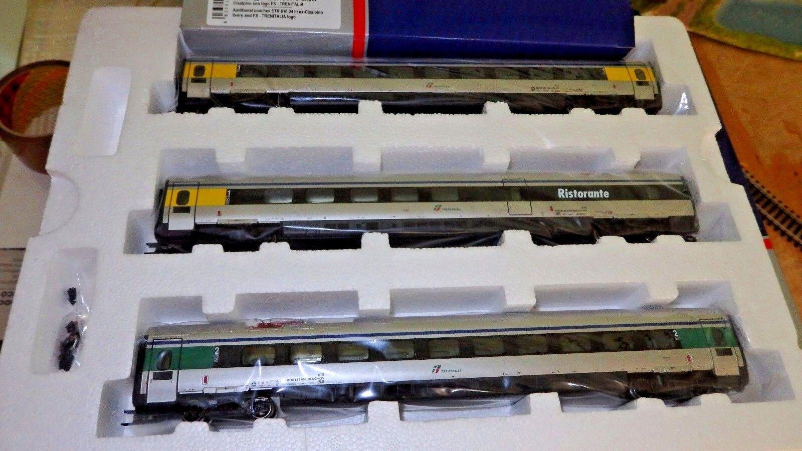 Lima Expert HL4650 SET 3 CARROZZE AGGIUNTIVO ETR 610 FS Trenitalia ex Cisalpino
