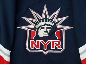 New-York-Rangers-Jersey-Mens-Large-Blue-lady-liberty-L-Proplayer-pro-player-nhl