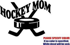 "Vinyl Decal Sticker - Hockey Mom #03 Car TruckBumper Window Sports JDM Fun 7"""