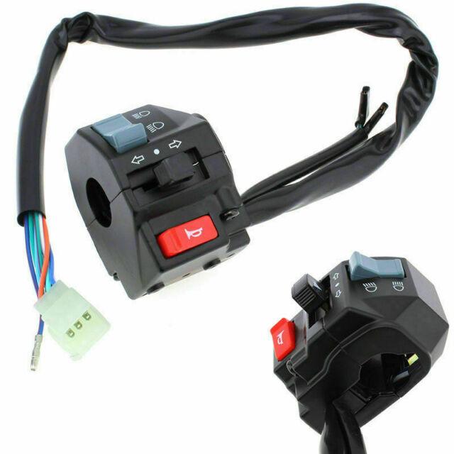 "A Pair 7/8"" Motorbike Handlebar On Off Kill Switch Horn Turn Signal Light Button"