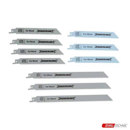 Säbelsägeblätter für Holz und Metall Satz Hartstahl 240 u 10-tlg 150 mm