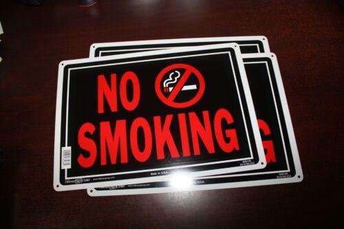 "NEW SET OF 3 SIGNS 10/"" x 14/"" Aluminum metal Hillman NO SMOKING"