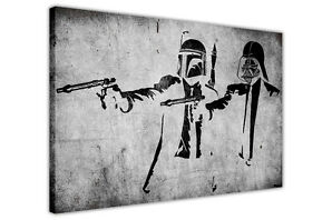 PULP FICTION STAR WARS BANKSY CANVAS WALL ART PRINTS PHOTO PRINTING PICTURES