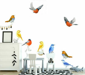 Fitch-Birds-Wall-Sticker-Nursery-Kids-Decor-Window-Furniture-Decal-Art-Mural-DIY