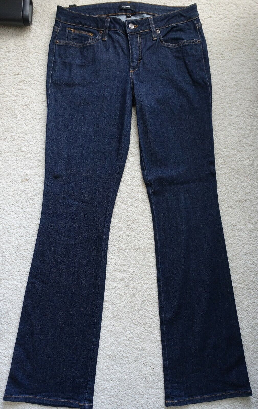 Bebe womens dark stretchy jeans 30x34 long tall