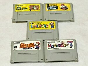 Super-Mario-World-Kart-RPG-et-Lot-5-Nintendo-SFC-Super-Famicom-Japan-SNES-NTSC-J