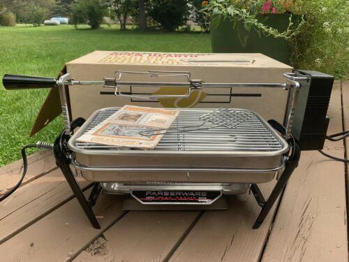Farberware Electric Open Hearth Broiler 455A Complete With Manual / Recipe Book