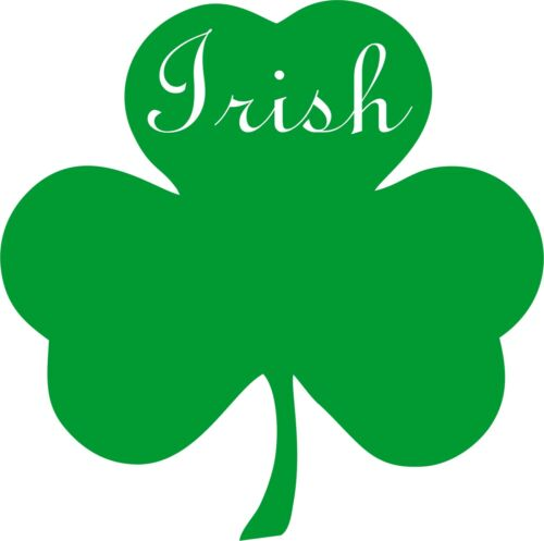 Irish 3 Leaf Clover Green Vinyl Car Window Sticker Bumper Computer Book Cover